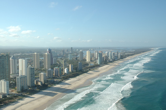 Aerial Gold Coast at Dusk, Queensland