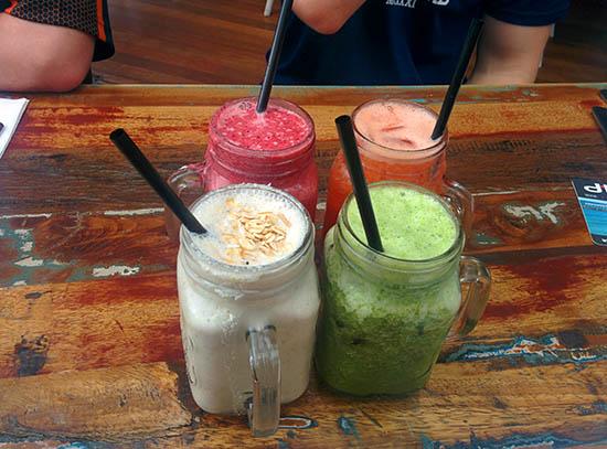Smoothies at Dbar Cafe