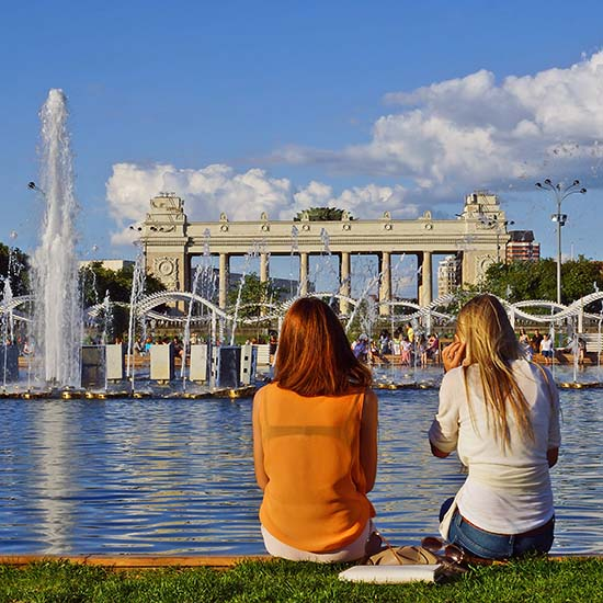 A great view to photograph at Gorky Park