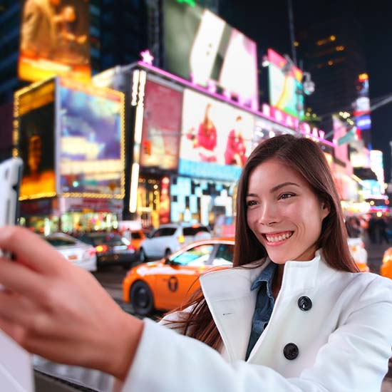 Are you guilty of a Times Square selfie?