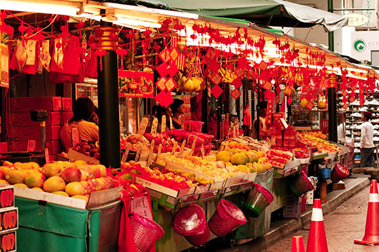Markets in China Town