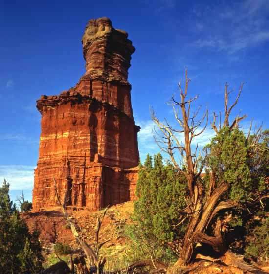 Red rocks: The Lighthouse Formation in Palo Duro Canyon State Park