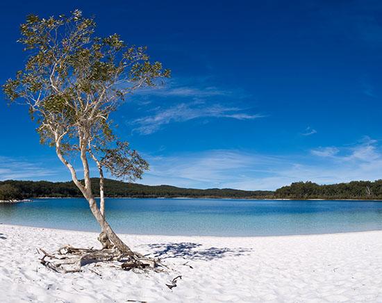 Lake McKenzie on Fraser Island, Queensland
