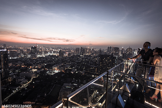 Octave rooftop bar at the  Bangkok Marriott Hotel