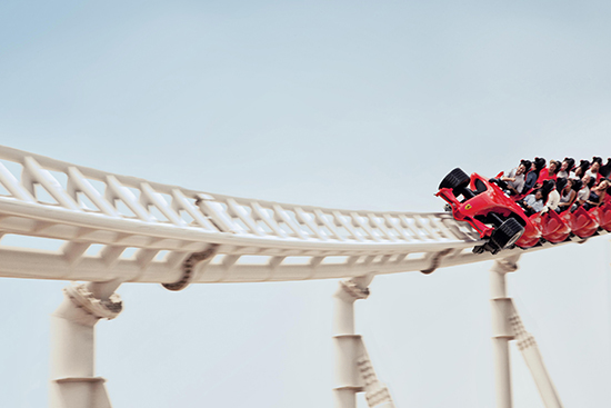 The Formula Rossa ride at Ferrari World (Image: Ferrari World)