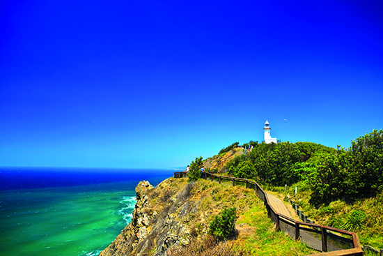 Byron Bay is perfect for surfing and whale watching