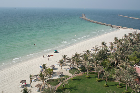 The free beach at the Jumeirah Beach Resort