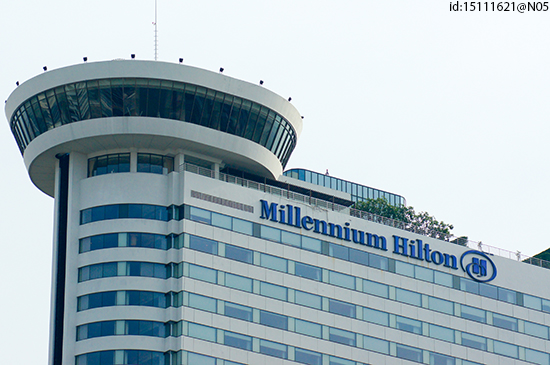 The rooftop of the Millennium Hilton hotel, Bangkok