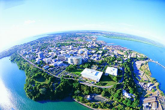 Aerial view of Northern Territory capital, Darwin