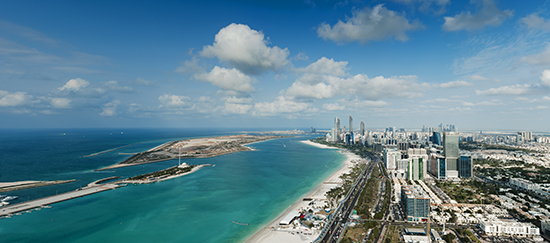 RS Abu Dhabi Aerial view Corniche