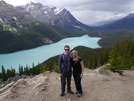 Brad and I at Peyto Lake (Image: Alexandra Gregg)
