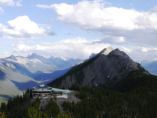 The summit of Sulphur Mountain in Banff (Image: Alexandra Gregg)