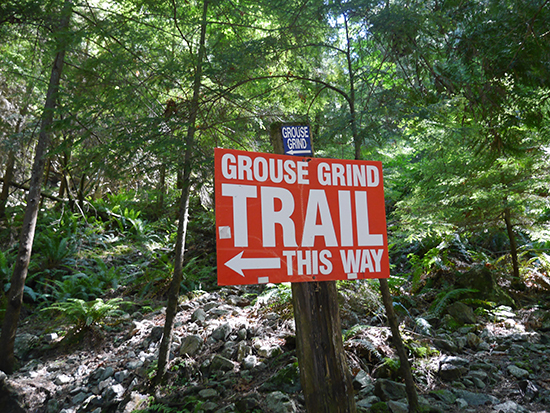 The start of the Grouse Grind trail (Image: Alexandra Gregg)