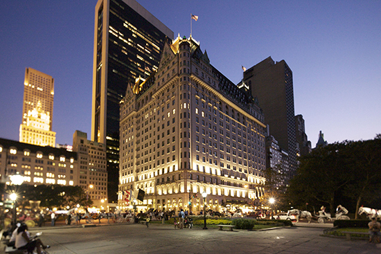 550px - The Plaza NYC Exterior with road