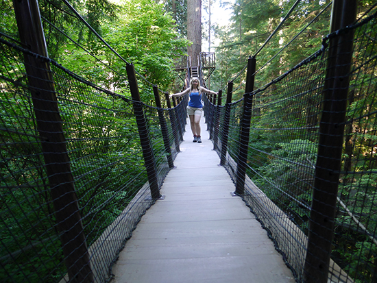On the treetop walk at Capilano Suspension Bridge (Image: Bradley Cronin)