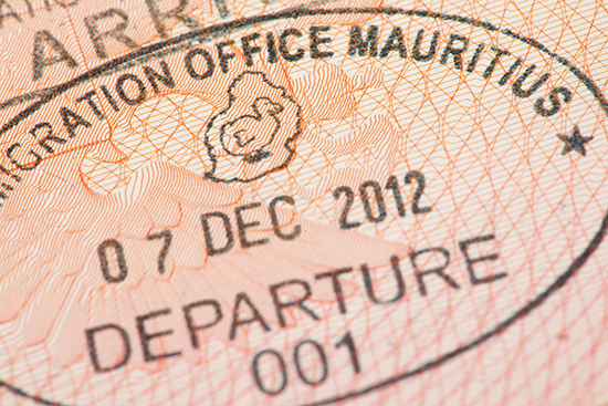 The Mauritius passport stamp features the dodo (Image: Shutterstock)