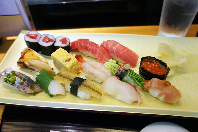 Sushi from the Tsukiji Fish Market (Image: Lauren Burvill)