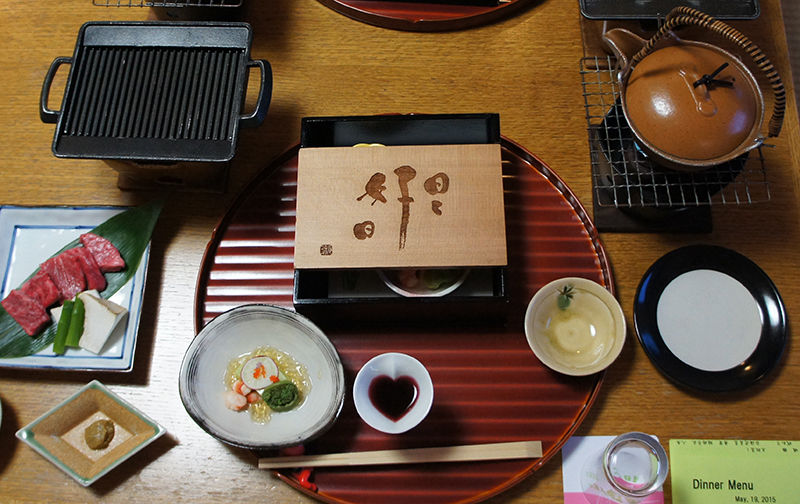 A traditional meal in a Ryokan (Image: Lauren Burvill)