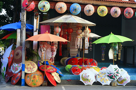 RS Umbrella shop Chiang Mai shutterstock_91014917