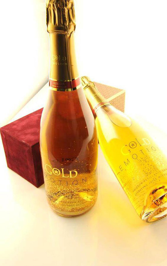 Gold Emotion sparkling apple juice (Image: Forrey & Galland)