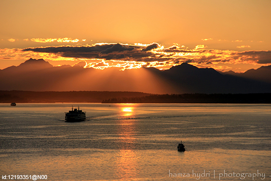 Sunset at Puget Sound