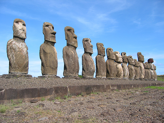 RS All 15 Moais of Ahu Tongariki, Easter Island