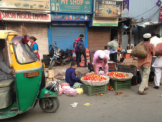 Driving through Delhi (Image: Natasha Brown)