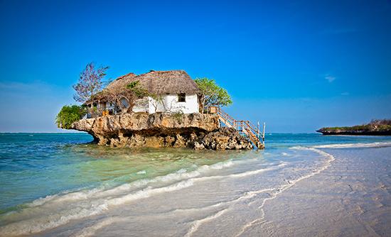 RS Floating restaurant,m Zanzibar, Tanzania - shutterstock_180192350