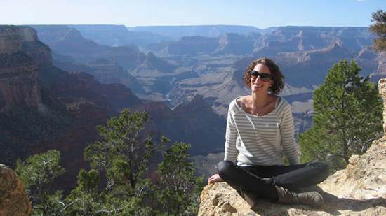 Suzy at the Grand Canyon, Arizona