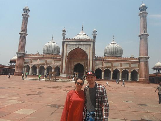 Enjoying Jama Masjid (Image: Natasha Brown)