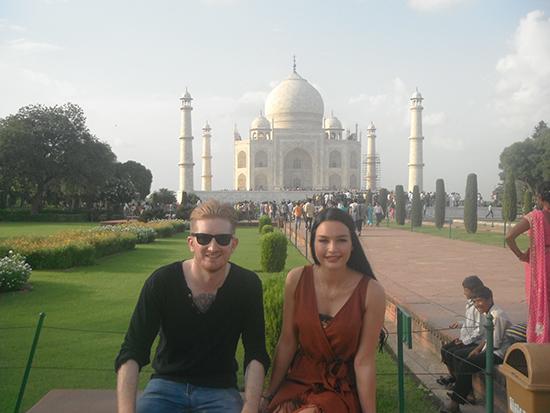 Natasha outside the Taj Mahal (Image: Natasha Brown)