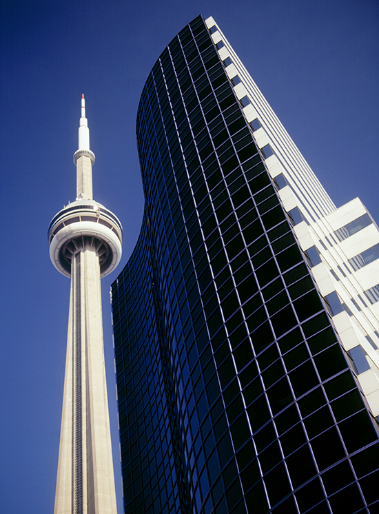 The CN Tower and building in Toronto