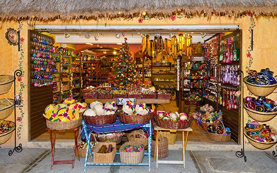 A market stall in Playa del Carmen