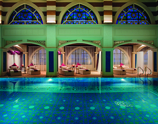 The indoor thalassotherapy pool at the Talise Ottoman Spa (Image: Jumeirah Zabeel Saray)