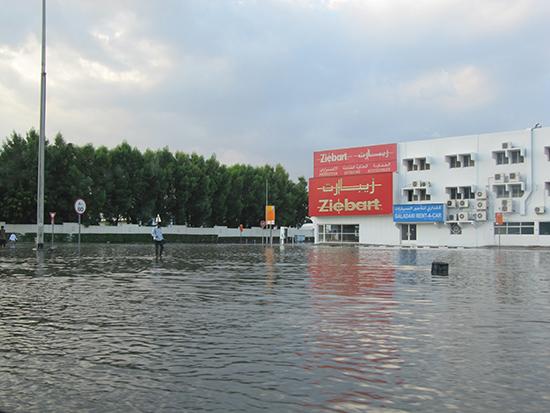 Flooding in Dubai (Image: Hazel Plush)