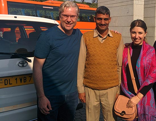 Phil and I with our amazing driver Kahlee from Creative Travel