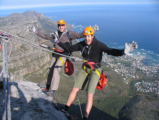 Table Mountain abseil with Abseil Africa