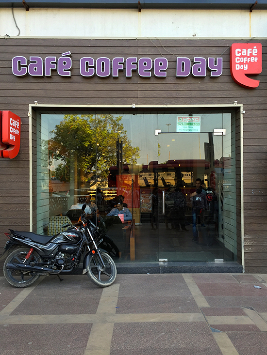Café Coffee Day shopfront (Image: Ross Jennings)