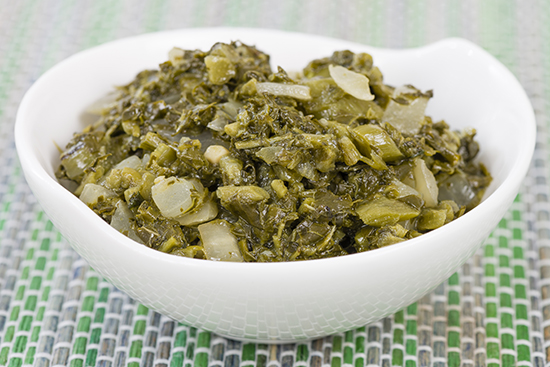 A bowl of callaloo