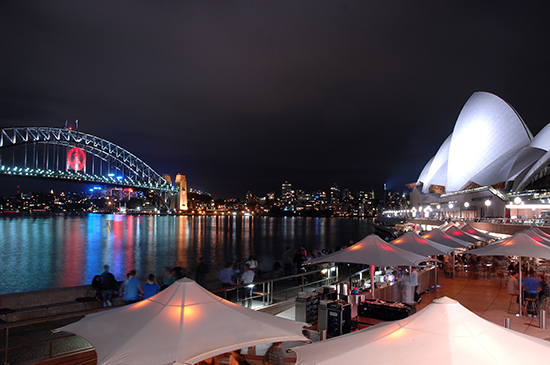 Harbourside dining in Sydney