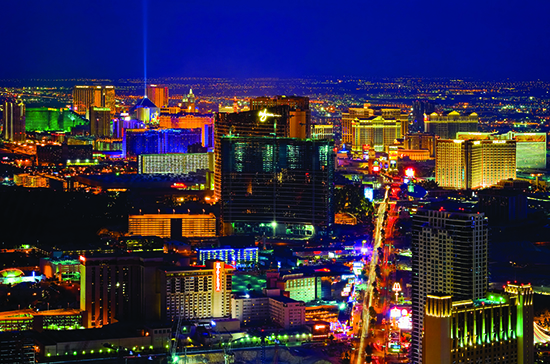 The bright lights of Las Vegas