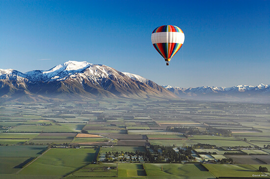 RS Balloon safari over the Canterbury Plains