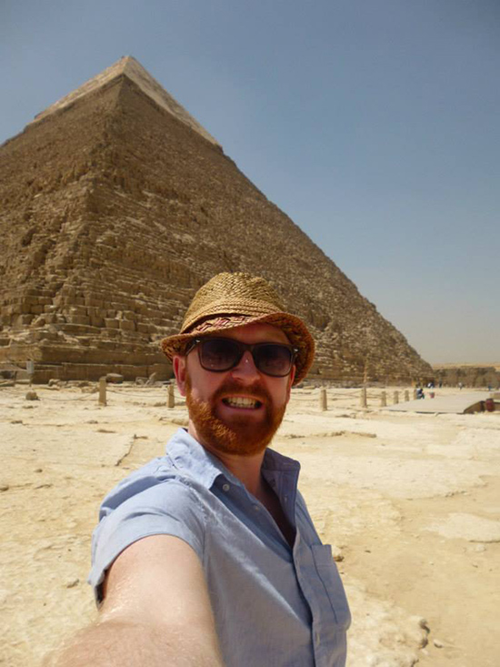 Pyramid selfie! Egypt (Image: Tom Grapes)
