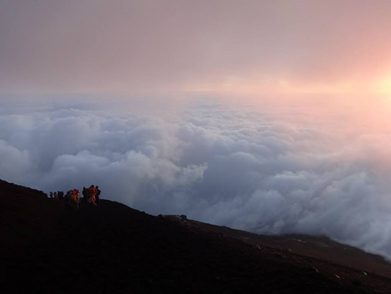 The view on our descent of Mount Fuji (Image: James Pierce)