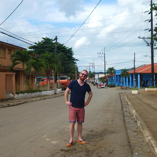 Tom in Pinar del Rio, Cuba (Image: Tom Grapes)