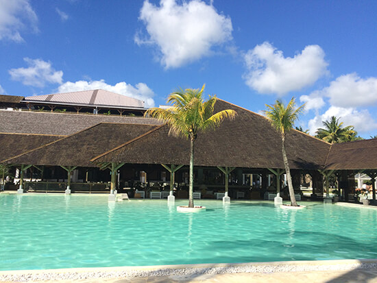 The pool at the Ravenala Attitude hotel, Mauritius (Image: Tess Watkins)