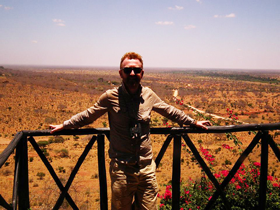 Tom in Tsavo East National Park, Kenya (Image: Tom Grapes)