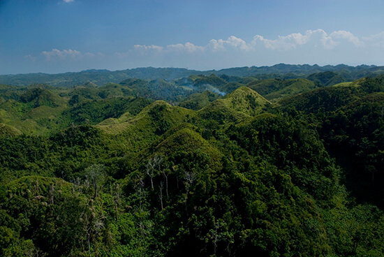 The verdant mountains of Samana