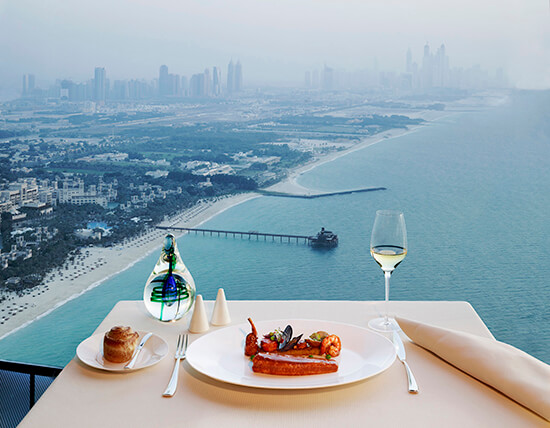 The view from dinner at the Burj (Image: Burj Al Arab)