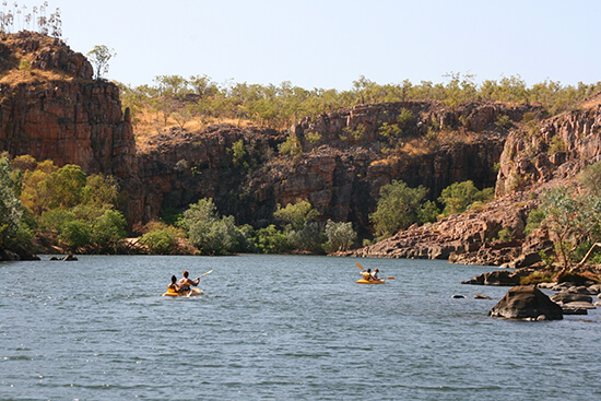 Australia is a real adventure - try kayaking in Katherine Gorge